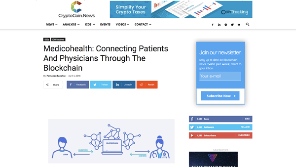 Medicohealth: Connecting Patients And Physicians Through The Blockchain