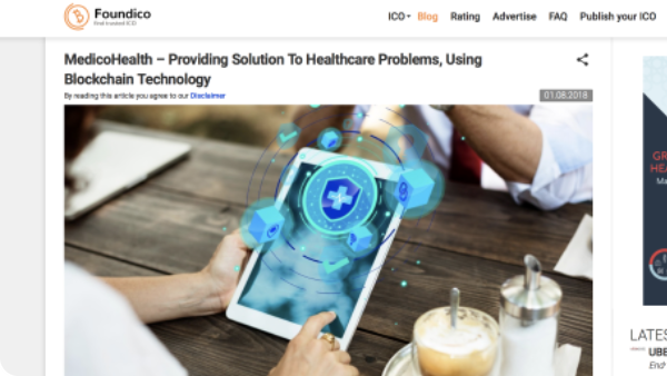 MedicoHealth – Providing Solution To Healthcare Problems, Using Blockchain Technology